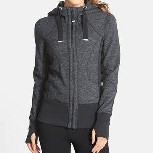 Women's Zella zip up hoodie gray S sweatshirt top